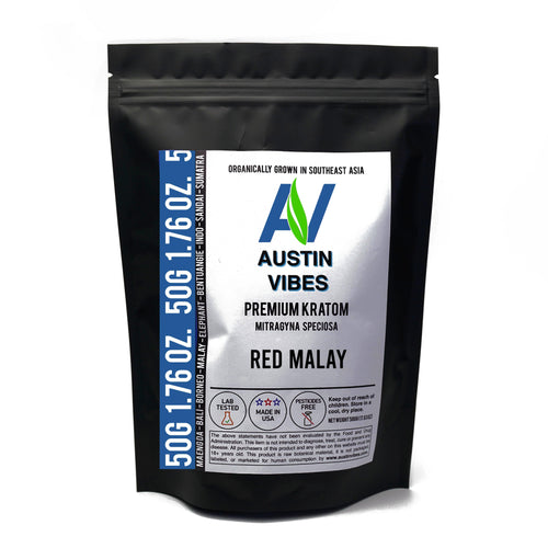 Austin Vibes 50g (1.76oz) Red Malay Kratom Powder
