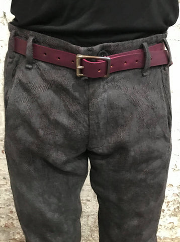 1 INCH SLIM BELT || RED HORSEHIDE