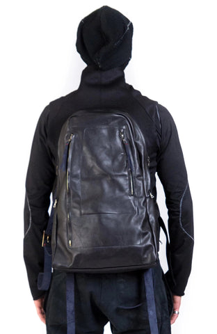 ARC VESTBAG - COTTON/LEATHER || BLACK