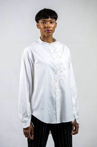 OVERSIZED 'CLAIS' SHIRT | 100% COTTON  -  WHITE