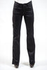 "WIDE LEG ""SAPPHO"" JEANS - COTTON DENIM / BLACK"