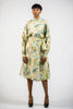 LONG SLEEVE 'KIA' DRESS -100% LINEN | PRINT