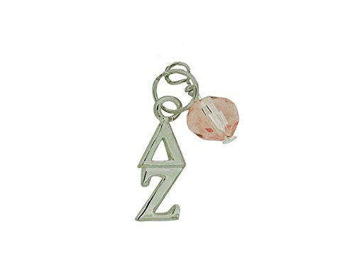 Delta Zeta Sorority Lavalier with Pink Swarovski Crystal Pendants
