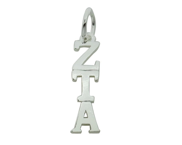 Sorority Things Girls Vertical Zeta Tau Alpha Greek Sorority Lavalier Drop Charm Pendant