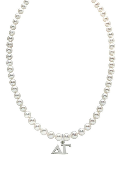 Delta Gamma Pearl Necklace Greek Sorority Pearl Necklace