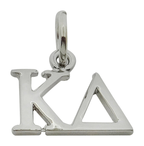 Horizontal Kappa Delta Greek Sorority Lavalier Drop Charm Pendant