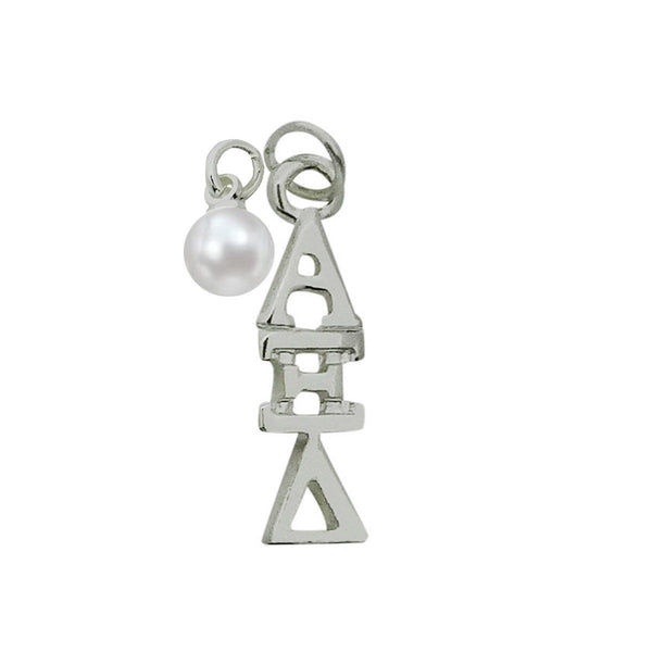 Alpha Xi Delta Sorority Lavalier Necklace with Pearl - DKGifts.com