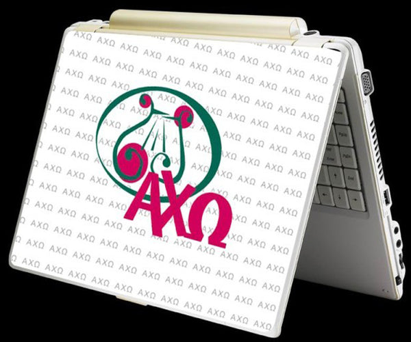 Alpha Chi Omega Sorority Laptop Skin Sticker Cover Decal Art -- One Size Fits All