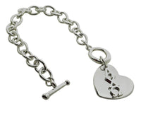 Alpha Chi Omega Rolo Sorority Bracelet with Heart on Toggle Clasp - DKGifts.com