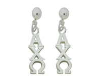 Alpha Chi Omega Post Greek Sorority Earring - DKGifts.com