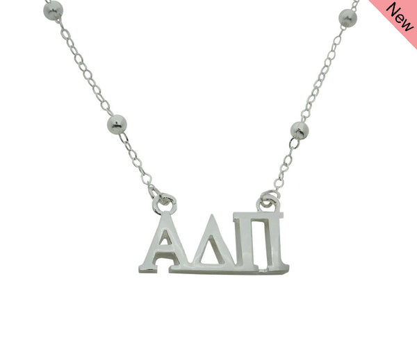 Alpha Delta Pi Beaded Floating Necklace Sorority Jewelry Necklace