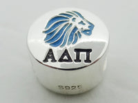 Alpha Delta Pi Enamel Lion Greek Sorority Bead European Big Hole Bead