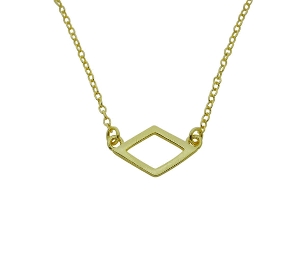 Alpha Delta Pi Open Diamond Necklace ADPi Floating Necklace Pendant GOLD FILLED