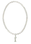 Alpha Gamma Delta Stretch Pearl Sorority Necklace Greek Sorority Pearl Necklace