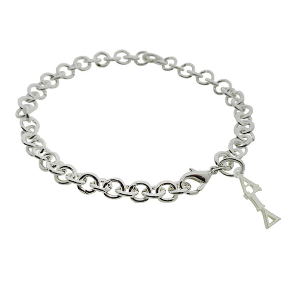 Alpha Gamma Delta Rolo Sorority Bracelet with Lobster Clasp