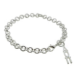 Alpha Omicron Pi Rolo Sorority Bracelet with Lobster Clasp