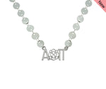 Alpha Omicron Pi Flower Sorority Jewelry Choker Floating Sorority Necklace