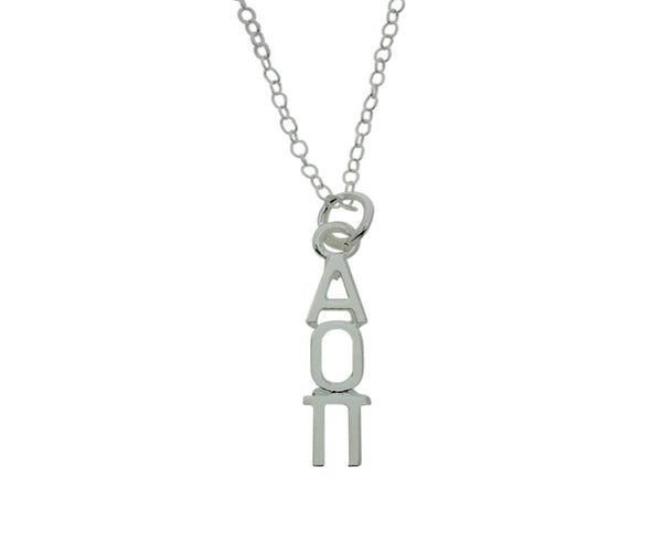 Alpha Omicron Pi Greek Sorority Lavalier Charm Drop Necklace