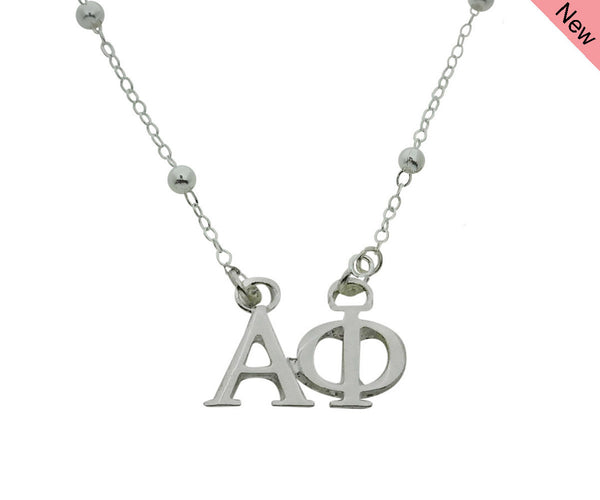 Alpha Phi Beaded Floating Necklace Sorority Jewelry Necklace