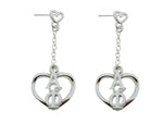 Alpha Phi Heart Dangle Greek Sorority Earring