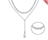 Alpha Phi Sorority Jewelry Double Layered Lavalier Necklace