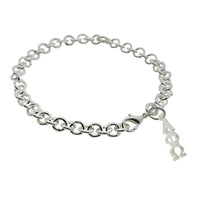 Alpha Phi Omega Rolo Sorority Bracelet with Lobster Clasp