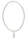 Alpha Phi Omega Stretch Pearl Sorority Necklace Greek Sorority Pearl Necklace