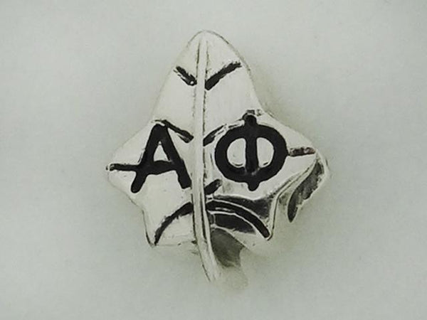 Alpha Phi Ivy Leaf Greek Sorority Bead to Fit Pandora Bracelet - DKGifts.com