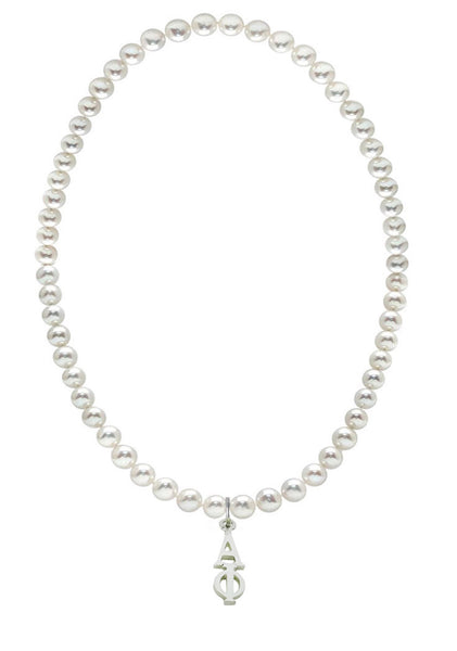 Alpha Phi Stretch Pearl Sorority Necklace Greek Sorority Pearl Necklace