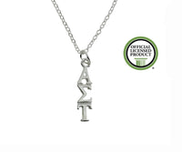 Alpha Sigma Tau Greek Sorority Lavalier Pendant Necklace - DKGifts.com