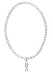 Alpha Xi Delta Stretch Pearl Sorority Necklace Greek Sorority Pearl Necklace