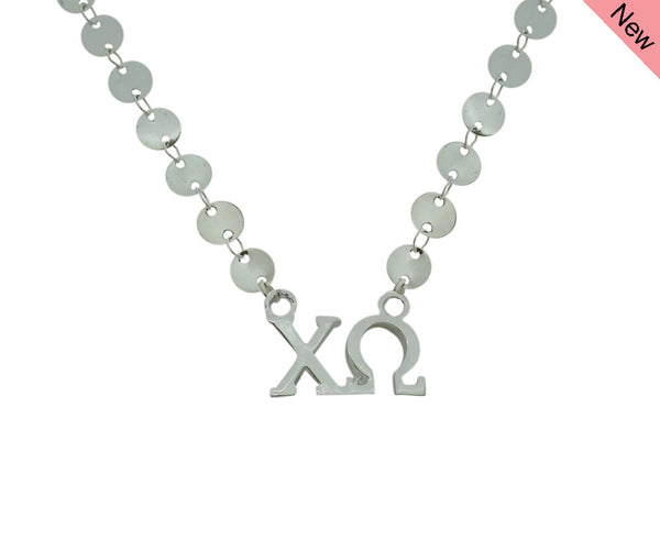 Chi Omega Chi O Sorority Jewelry Choker Floating Sorority Necklace