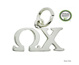 Horizontal Chi Omega Sorority Lavalier Charm Drop Pendant Necklace