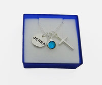 Personalized Confirmation Communion Necklace with Birthstone, Hand Stamped Confirmation Necklace - DKGifts.com