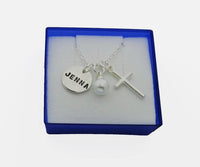 Personalized Confirmation Communion Necklace, Hand Stamped Confirmation Necklace - DKGifts.com