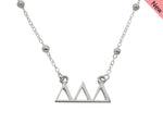 Tri Delta Delta Delta Beaded Floating Necklace Sorority Jewelry Necklace