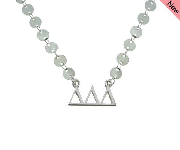 Tri Delta Delta Delta Sorority Jewelry Choker Floating Sorority Necklace