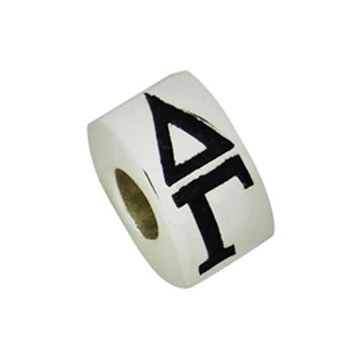 Delta Gamma Letter Greek Sorority Bead European Big Hole Bead - DKGifts.com