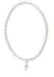 Delta Gamma Stretch Pearl Sorority Necklace Greek Sorority Pearl Necklace