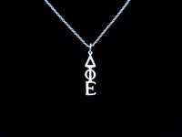 Delta Phi Epsilon Sorority Lavalier Necklace Sterling Silver - DKGifts.com
