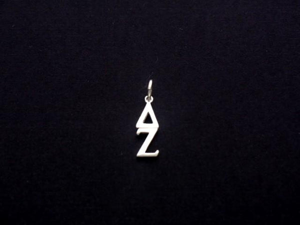Delta Zeta Sorority Lavalier Necklace Sterling Silver - DKGifts.com