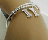 Hand Stamped Personalized Dog Bracelet Bangle - DKGifts.com