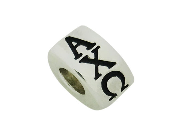Alpha Chi Omega Letter Greek Sorority Bead European Big Hole Bead