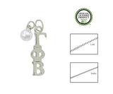 Gamma Phi Beta Sorority Lavalier Necklace with Pearl - DKGifts.com