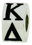 Kappa Delta Letter Greek Sorority Bead European Big Hole Bead