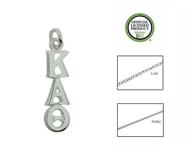 Kappa Alpha Theta Greek Sorority Lavalier Charm Drop Necklace - DKGifts.com