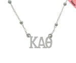 Kappa Alpha Theta Beaded Floating Necklace Sorority Jewelry Necklace