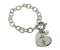 Kappa Alpha Theta Sorority Bracelet with Heart and Pearl Dangle - DKGifts.com