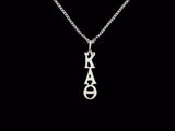 Kappa Alpha Theta Sorority Lavalier Necklace Sterling Silver - DKGifts.com