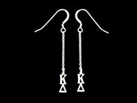 Kappa Delta Dangle Greek Sorority Earring Sterling Silver - DKGifts.com
